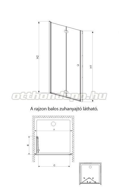radaway eos dwb zuhanyajt 70 197 cm otthon depo web ruh z. Black Bedroom Furniture Sets. Home Design Ideas