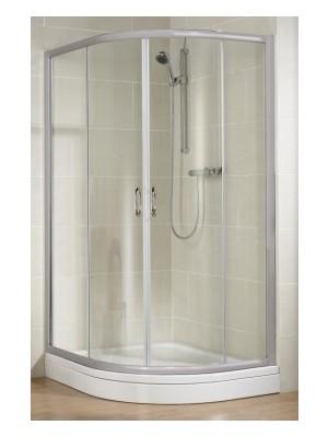HSK, TOP negyedköríves zuhanykabin, alu matt, átlátszó, 90*90 cm