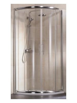 HSK, Imperial negyedköríves zuhanykabin, alu matt, átlátszó, 90*90 cm