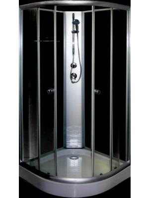 Aqualife, Opal 508C fekete/fehér zuhanykabin, 90x90x205 cm