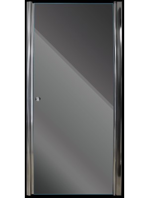 Aqualife, Zuhanyajó HX-109T 90*185 cm, nyíló zuhanyajtó chrome profil sima üveg OOPR