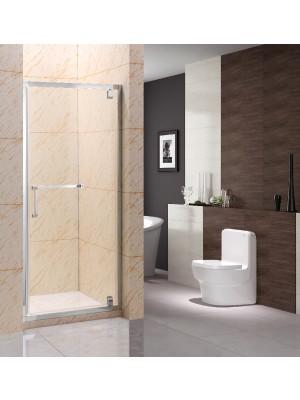 HTB, zuhanyajtó, 90*190,6 cm, 90 fokban nyíló, rozsdamentes acél pánt,6 mm-es üveg (B-F402) 1-1,5 cm állíthatóság OOP