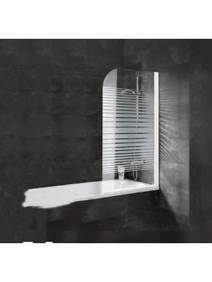 HTB, Sidari kádparaván, csíkos üveg, króm profil, 6 mm-es üveg, 80x140 cm