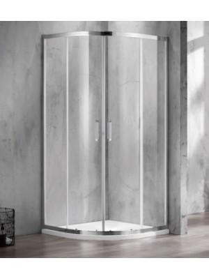 Wellis, Caprera zuhanykabin, íves, 2 tolóajtós, alu keretes 90*90 cm