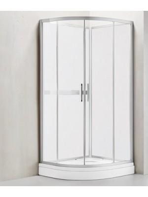 Wellis, Vivara zuhanykabin, hátfalas, zuhanytálcával, fehér színű 90*90 cm