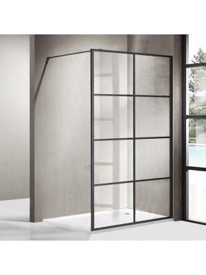 Wellis, Tino, Walk-In zuhanyfal, fekete keret 120*195 cm
