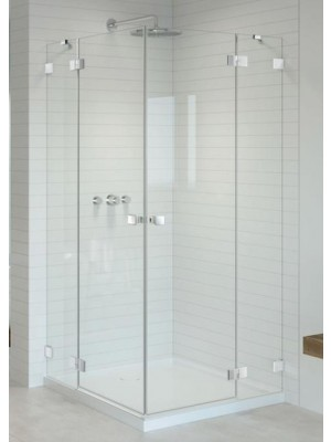 Radaway, Essenza PRO White, szögletes, zuhanykabin KDD 80 B + KDD 80 J I.o