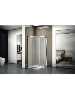 Riho, Hamar 2.0, íves zuhanykabin, szatén üveg, 90*90*200 cm, GR14210